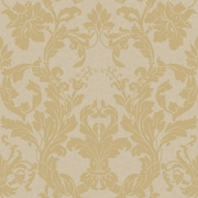 Inspired By Color™ Metallics Acanthus Damask Wallpaper, Light Gold