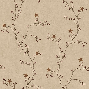 Inspired By Color™ Country & Lodge Star Berry Vine Wallpapers
