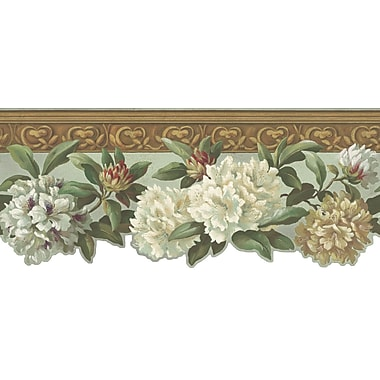 Inspired By Color™ Borders Rhododendron Border, Linen White With Green/Beige
