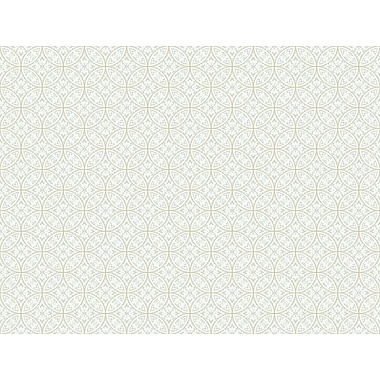 Inspired By Color™ Beige Lacey Circle Geo Wallpaper, Gray With Cream