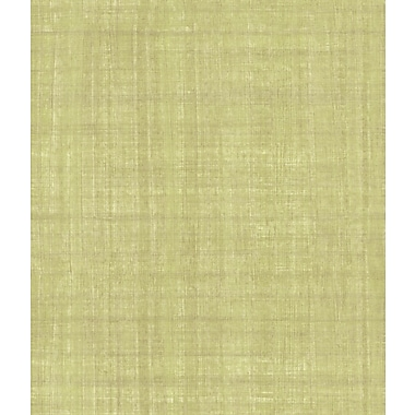 Inspired By Color™ Green Handmade Paper Wallpaper, Green With Bronze