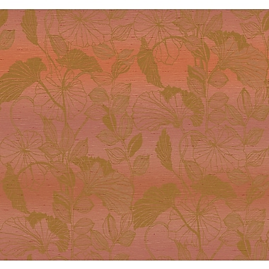Inspired By Color™ Red Leaf Outline Sidewall Wallpaper, Light Red With Beige