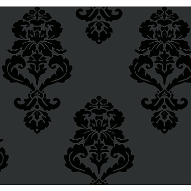 Inspired By Color™ Black & White Graphic Damask Wallpapers