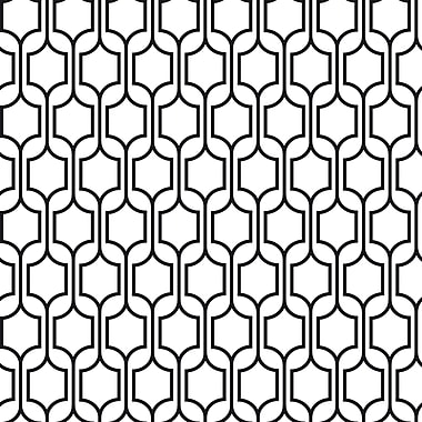 Inspired by Color™ Black & White Trellis Wallpaper, Black With White