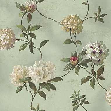 Inspired By Color™ Green Rhododendron Wallpaper, Blue