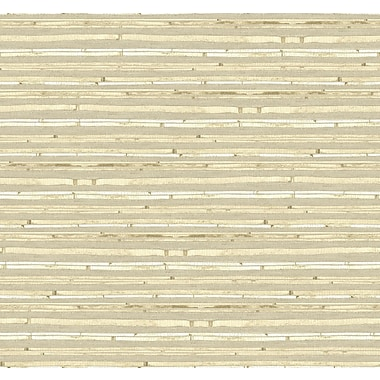 Inspired By Color™ Beige Woven Bamboo Wallpaper, Beige With Cream
