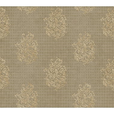 Inspired By Color™ Metallics Biscayne Medallion Wallpaper, White With Cream