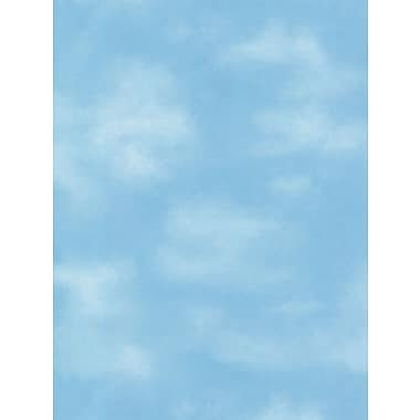 Inspired By Color™ Blue Kids Clouds Wallpaper, Blue With White
