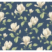 Inspired By Color™ Blue Magnolia Branch Side Wallpaper, Blue