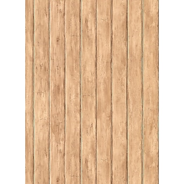Inspired By Color™ Country & Lodge Bead Board Wallpaper, Light Brown