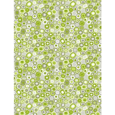 Inspired By Color™ Green Dot Layers Wallpaper, Silver With Green