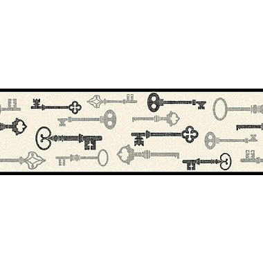 Inspired by Color™ Borders Key Border, Cream With Black/Metallic Silver
