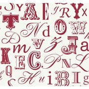 Inspired By Color™ Red Word Play Wallpaper, Real Red With White