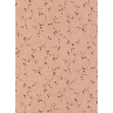 Inspired By Color™ Country & Lodge Rose Hip Vine Wallpaper, Khaki