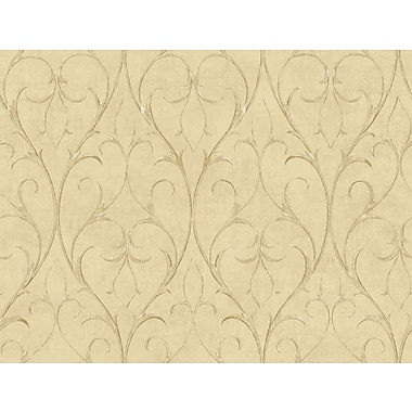 Inspired By Color™ Beige Delicate Scroll Wallpaper, Tan