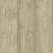 Inspired By Color™ Country & Lodge Cabin Boards Wallpaper, Tan
