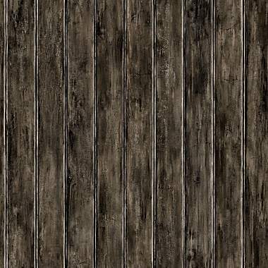 Inspired by Color™ Country & Lodge Bead Board Wallpaper, Black