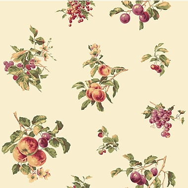 Inspired By Color™ Red Fruit Spot Wallpaper, Cream