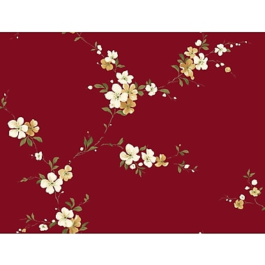 Inspired By Color™ Red Blossom Trail Wallpaper, Red