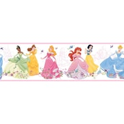 Inspired By Color™ Kids Dancing Princesses Border, Pink With White/Purple/Yellow/Green/Brown