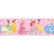 Inspired By Color™ Kids Dancing Princesses Border, Pink With Purple/Blue/Green/White/Red/Brown