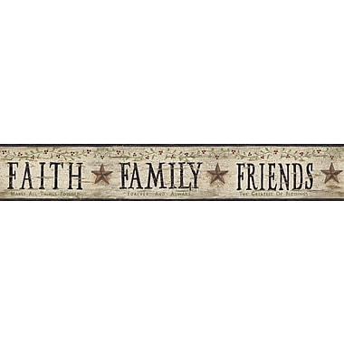 Inspired By Color™ Country & Lodge Faith, Family, Friends Border, Beige With Black/Red