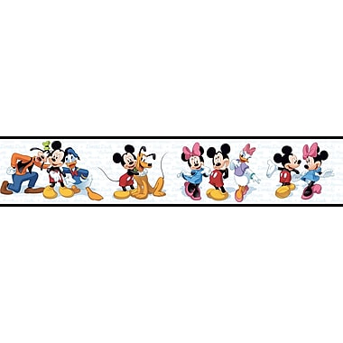 Inspired By Color™ Kids Mickey & Friends Border, Black With White