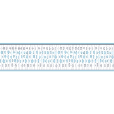 Inspired By Color™ Borders Modern Dotted Twig Border, White With Blue/Black