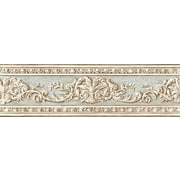 Inspired By Color™ Borders Arch Fan Border, Cream With Light Blue