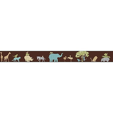 Inspired By Color™ Kids Safari Border With Pattern, Brown