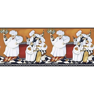 Inspired By Color™ Borders Chef's A Cooking' Border, Orange With Black