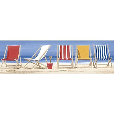 Inspired By Color™ Borders Beach Chairs Border, Blue With Red/Yellow