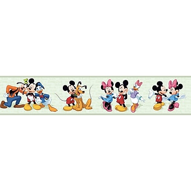 Inspired By Color™ Borders Mickey Mouse-Mickey and Friends Border, Green