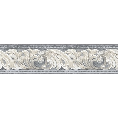 Inspired By Color™ Borders Architectural Scroll Border, Black With White