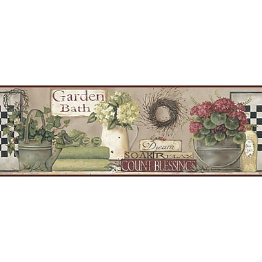 Inspired By Color™ Borders Garden Bath Border, Brown