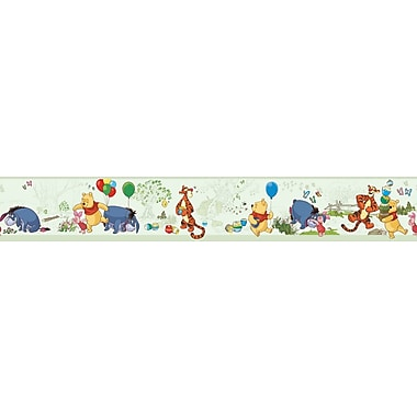 Inspired By Color™ Borders Pooh Toile Border y Poo Toile Border, Green