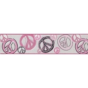 Inspired By Color™ Kids Girl Peace Sign Border, White With Light Pastels