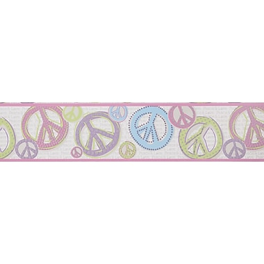 Inspired By Color™ Kids Girl Peace Sign Borders