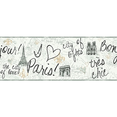 Inspired By Color™ Kids Paris Border, White With Black/Gold