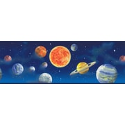 Inspired By Color™ Kids Planets Border, Blue With Red/Yellow
