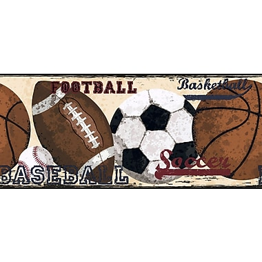 Inspired By Color™ Borders Vintage Sports Border, Creme