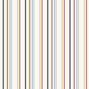 Inspired By Color™ Kids Wide Multi Stripe Wallpaper, Red With White/Blue