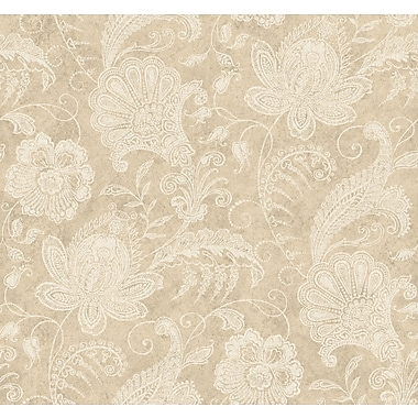 Inspired By Color™ Beige Lacy Jacobean Wallpaper, Gold With Yellow