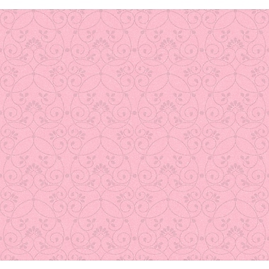 Inspired By Color™ Kids Glitter Scroll Wallpaper, Light Pink