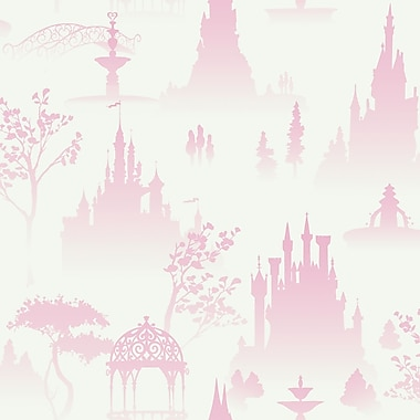 Inspired By Color™ Kids Tonal Scenic Toile Wallpaper, White