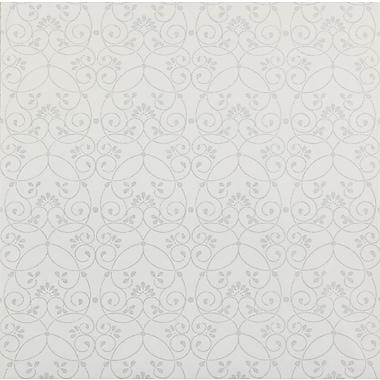 Inspired By Color™ Kids Glitter Scroll Wallpaper, White