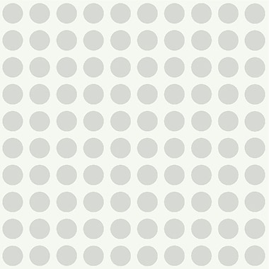 Inspired By Color™ Kids Dots Wallpaper, Silver With White