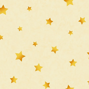 Inspired By Color™ Kids Star Sidewall Wallpaper, Cream