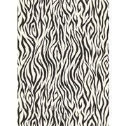 Inspired By Color™ Black & White Zebra Skin Wallpaper, Black With White
