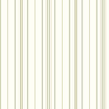 Inspired By Color™ Green Wide Pinstripe Wallpaper, White With Green